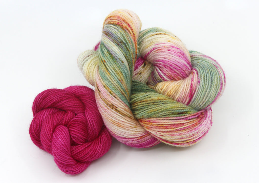 March Sock Set ~ Ornamental Cabbage & Demure ~ Trust ~ High Twist Merino Nylon Sock