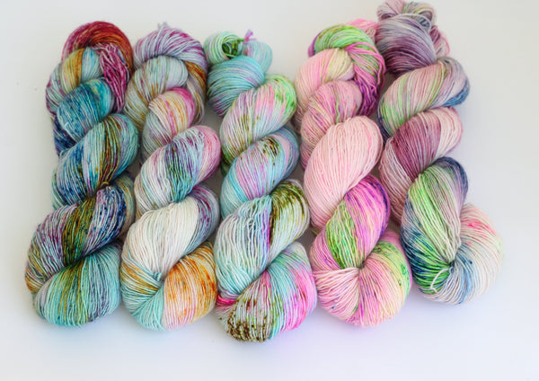 My Little Pony ~ 5 skein fade ~ Joy ~ Merino Singles
