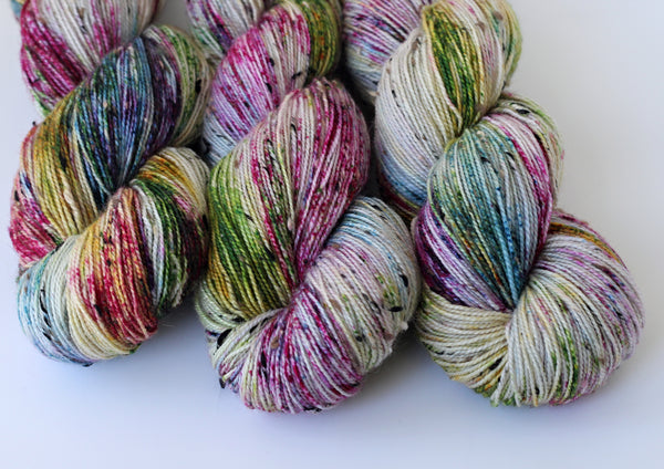Semi Precious ~ Tweedy Light ~ Donegal Nep Merino Sock