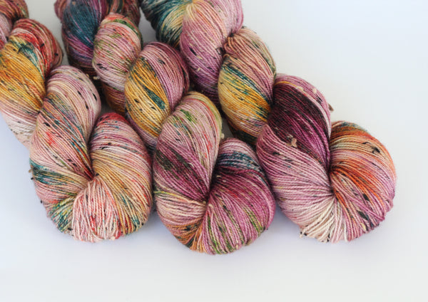 Super Special ~ Tweedy Fingering ~ Donegal Nep Merino Sock
