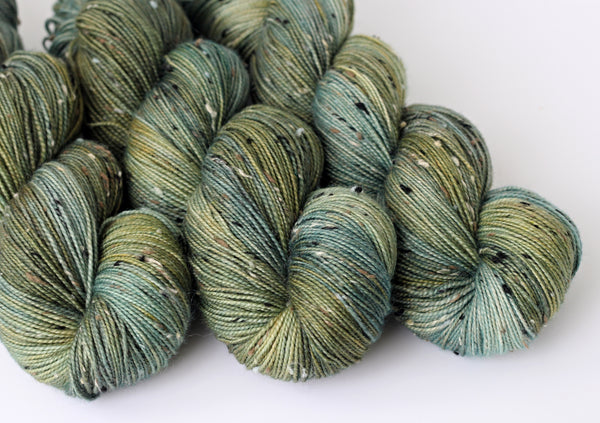 Verdant ~ Tweedy Light ~ Donegal Nep Merino Sock