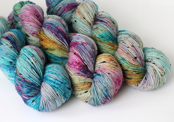 Watercolour ~ Tweedy ~ Donegal Nep Merino Sock