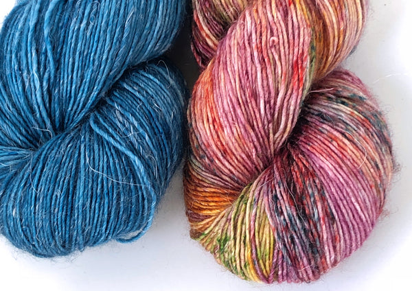 Siren Song 2 Skein Kit ~ Blue Steel & Super Special ~ Merlin ~ Merino Linen Singles