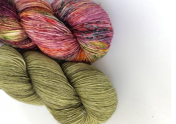 Siren Song 2 Skein Kit ~ Forest Fern & Super Special ~ Merlin ~ Merino Linen Singles