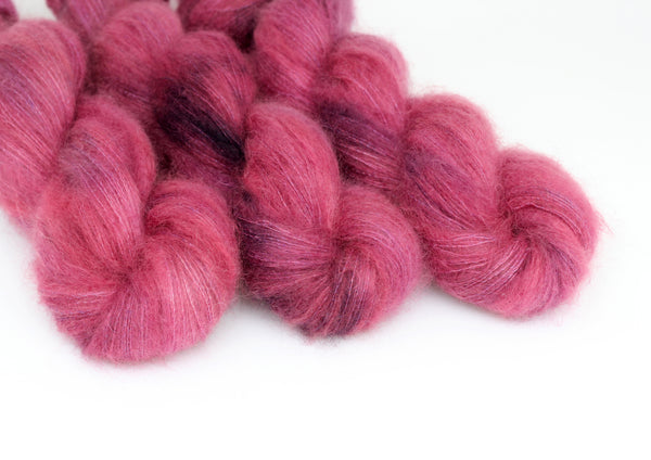Winter Berry ~ Halo ~ Mohair Kidsilk Fluff