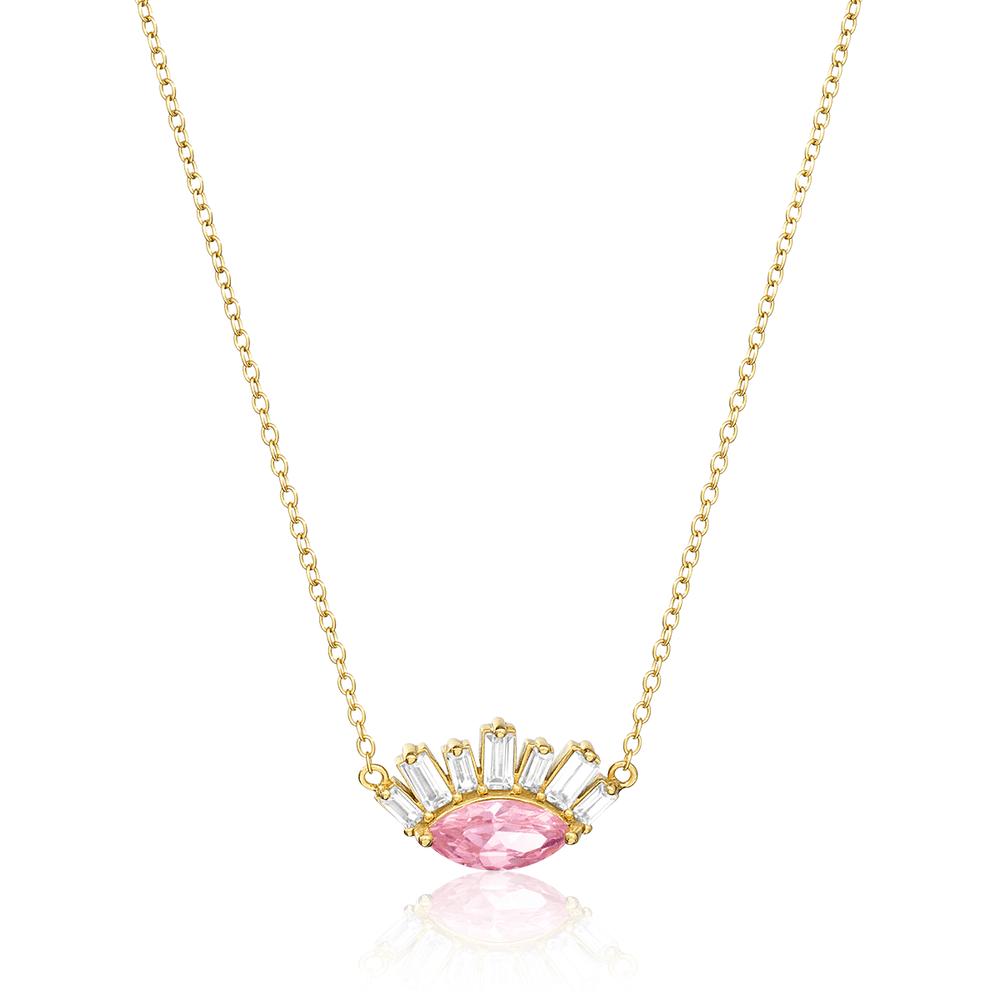 Baguette Eyelash Necklace - V Coterie