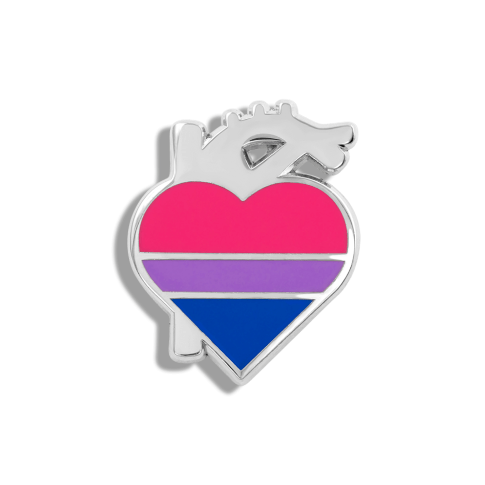 CHARITY PIN | Bisexual Heart