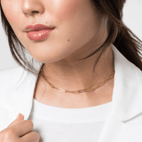 Chain Link Layering Necklace - V Coterie