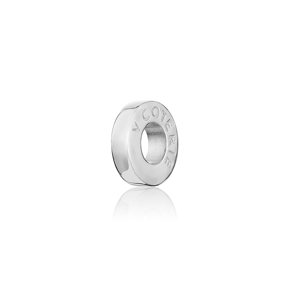 Solid Charm Spacer - Sterling Silver
