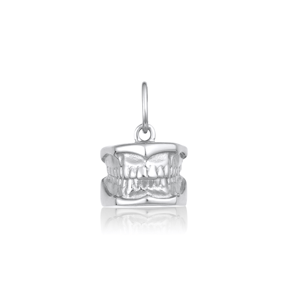 Dental Model Charm - Sterling Silver