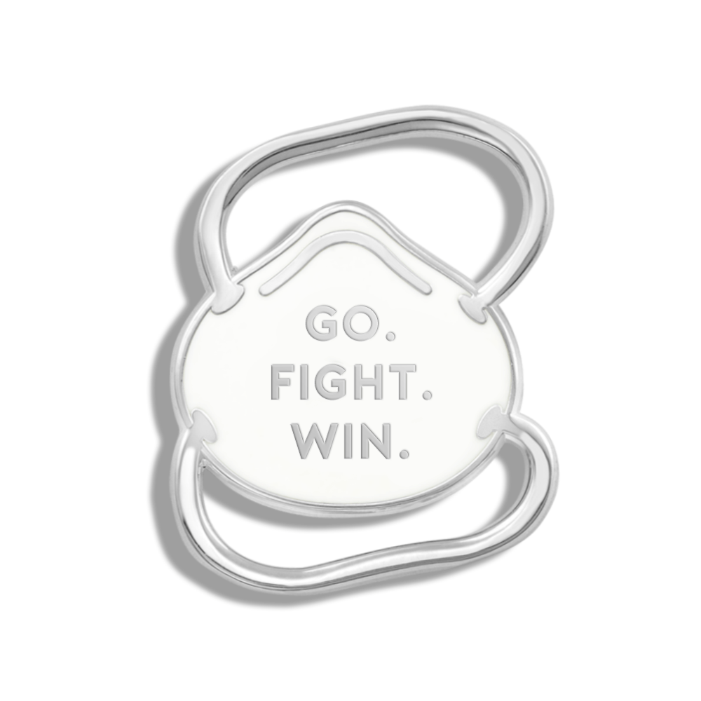 CHARITY PIN | Go. Fight. Win. N95