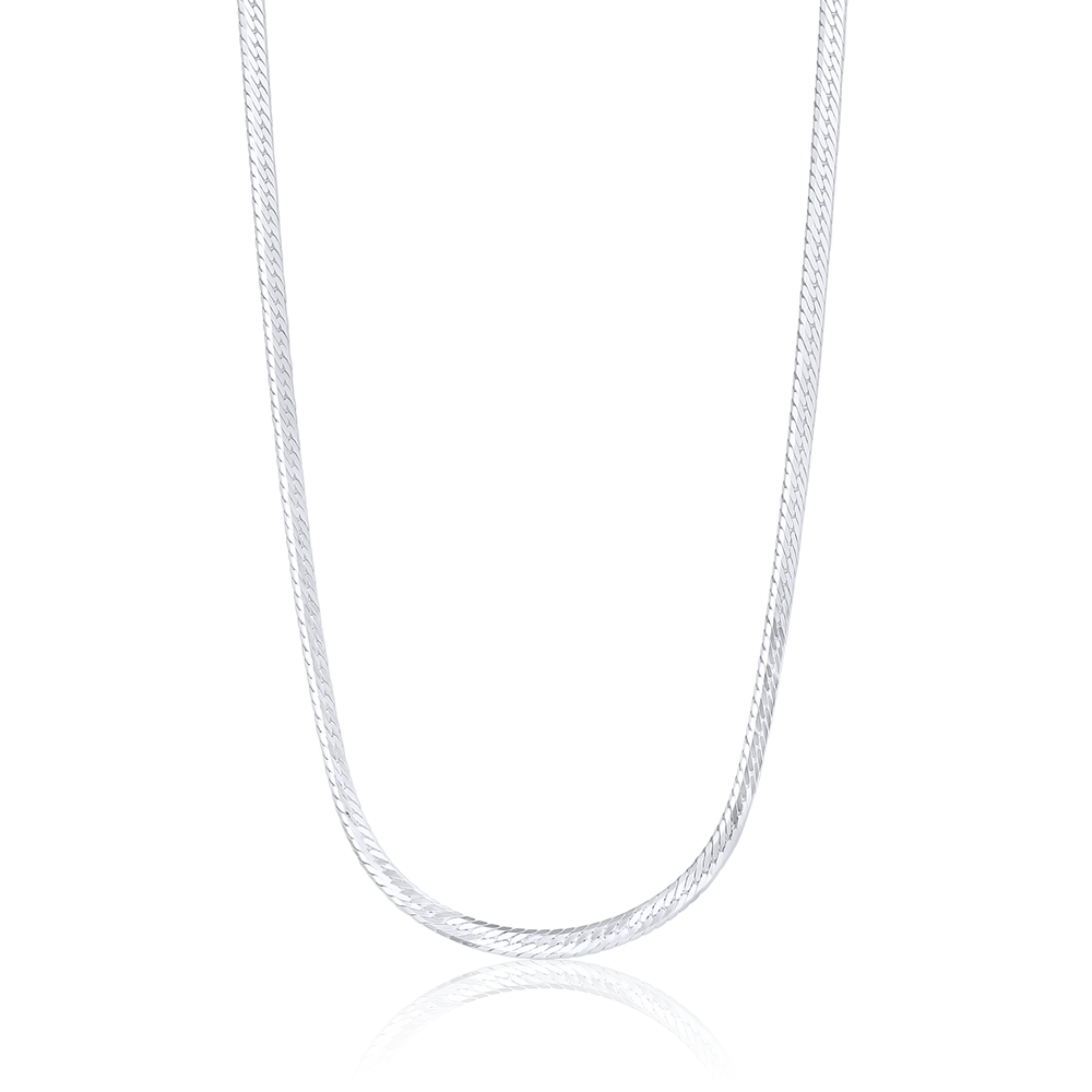 Herringbone Necklace - Sterling Silver