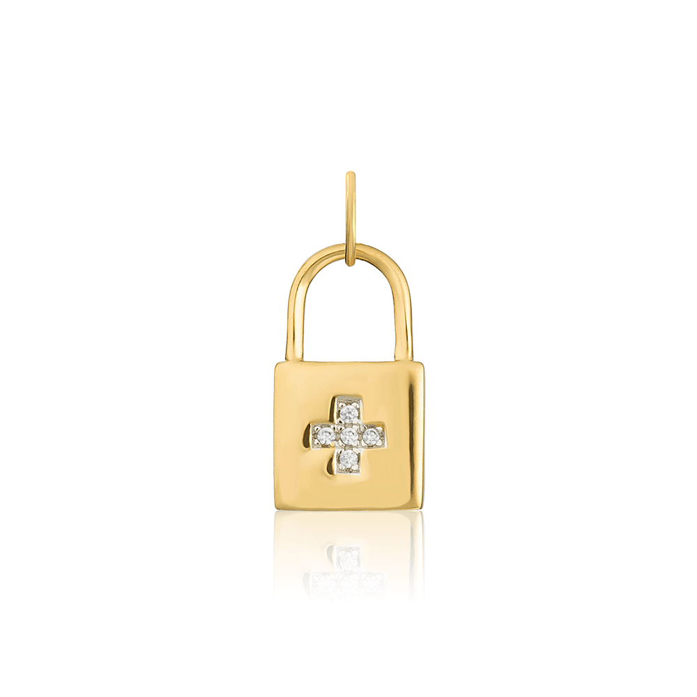 Medical Cross Padlock Charm