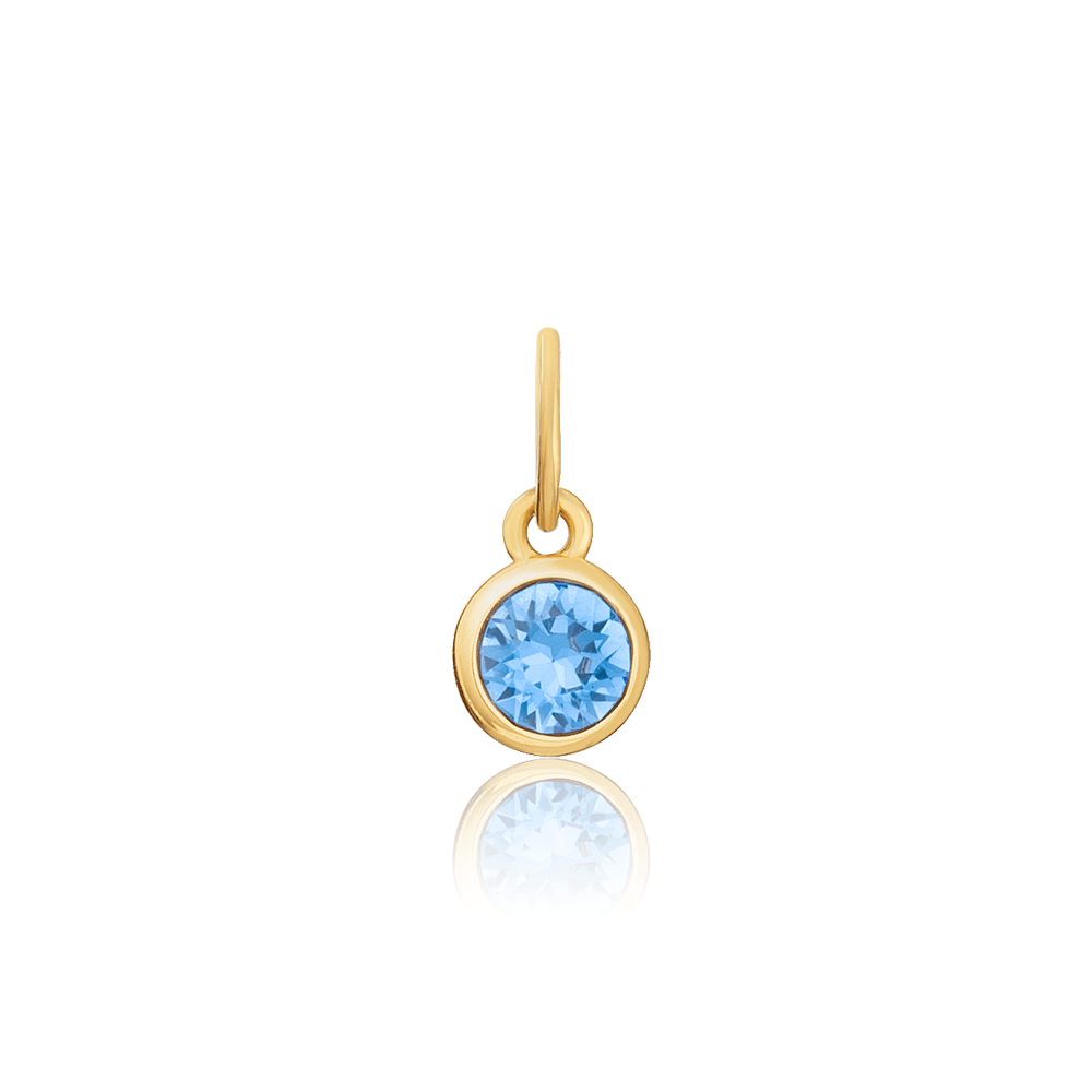 March (Aquamarine) Swarovski Birthstone Charm