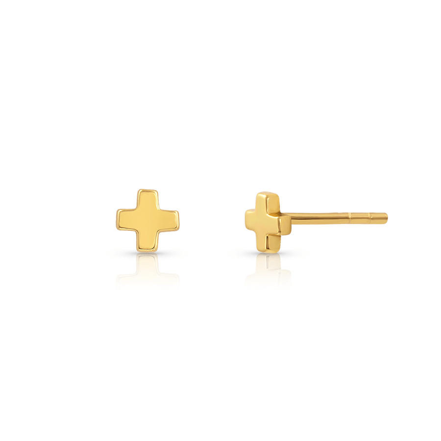 Medical Cross Studs - V Coterie