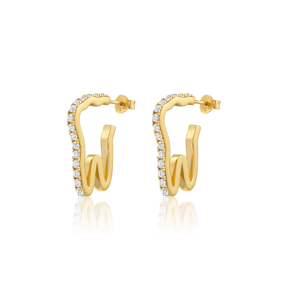 Mini Tooth Pavé Hoops - V Coterie
