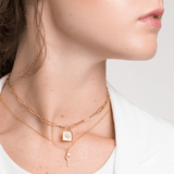 Modern Anatomical Heart Key Necklace - V Coterie