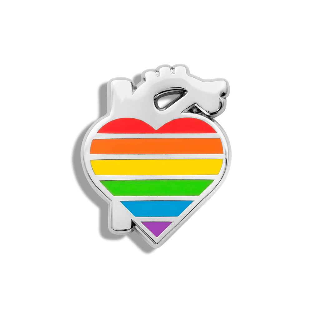 CHARITY PIN | Rainbow Heart