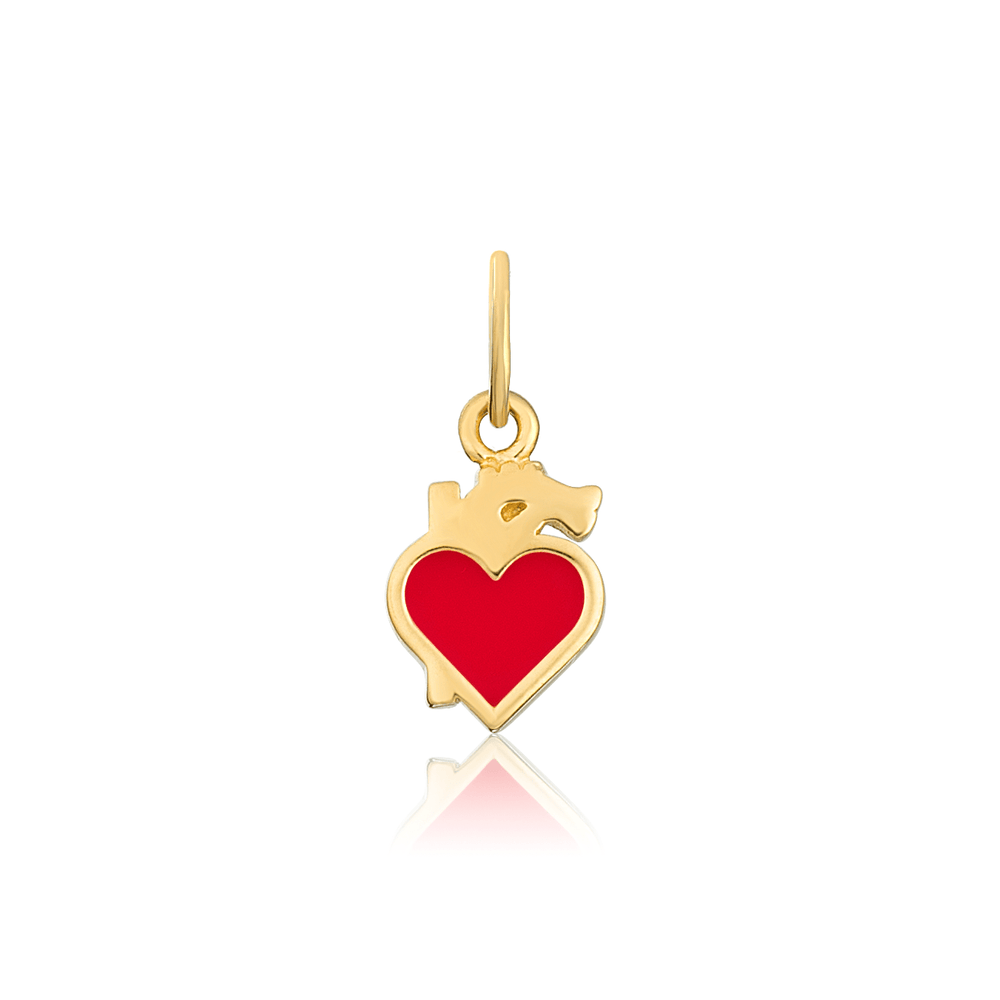 Modern Anatomical Heart Charm