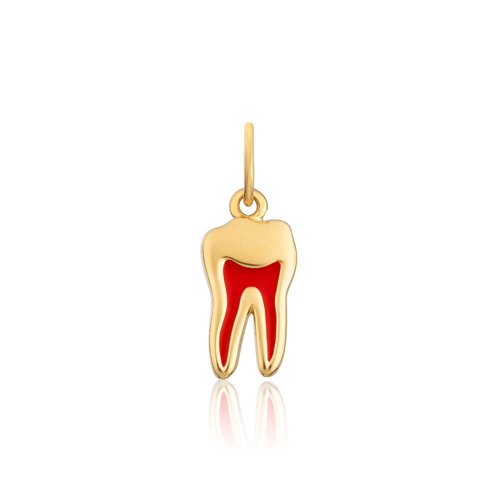 Tooth w/ Red Pulp Charm
