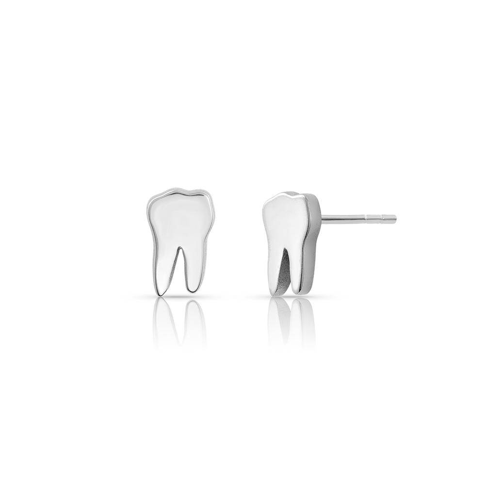 Tooth Studs - Sterling Silver