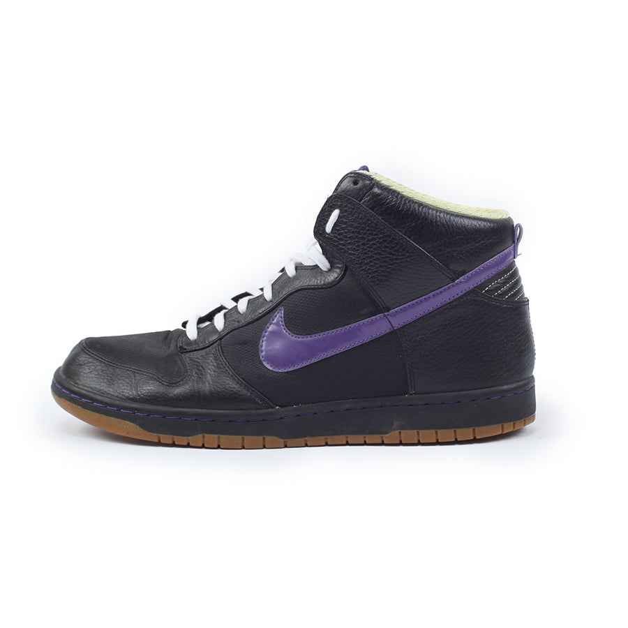 Nike Dunk High Black/Purple Lime