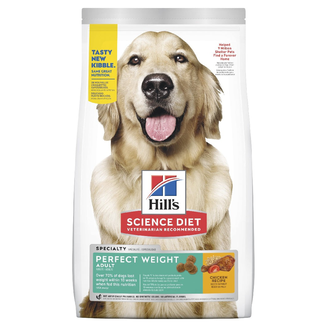 HILL'S SCIENCE DIET PERFECT WEIGHT ADULT DRY DOG FOOD 12.9KG
