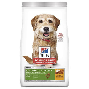 HILLS SCIENCE DIET ADULT YOUTHFUL VITALITY 7+ SML 1.58KG