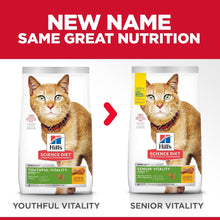 Load image into Gallery viewer, HILL'S SCIENCE DIET SENIOR VITALITY CAT 7+ 2.72KG