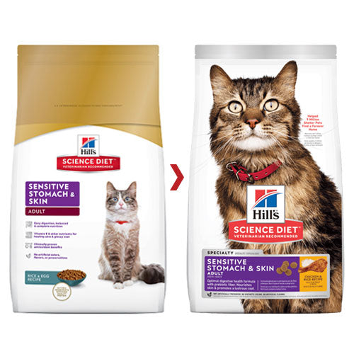 SCIENCE DIET FELINE SENSITIVE STOMACH & SKIN 1.6KG
