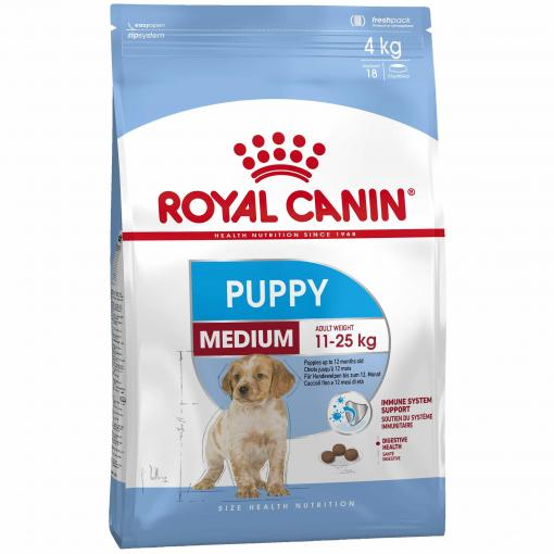 ROYAL CANIN DOG MEDIUM PUPPY 4KG