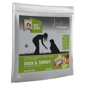 MEALS FOR MUTTS GRAIN FREE DUCK TURKEY 2.5KG