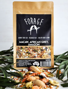 FORAGE MACAW & AFRICAN GREY 500G