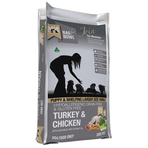 MEALS FOR MUTTS PUPPY LG GRAIN FREE TURKEY CHICKEN 20KG