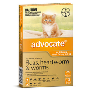 ADVOCATE CAT 0-4KG ORANGE 3PK