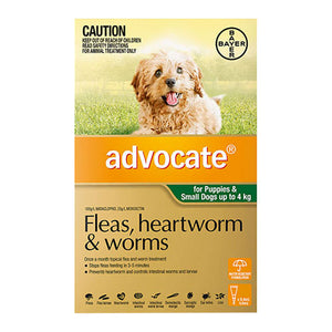 ADVOCATE DOG 0-4KG GREEN 3PK