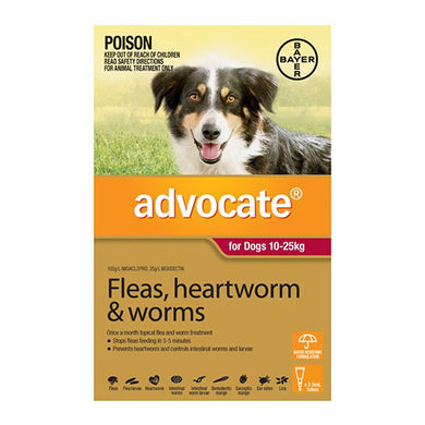 ADVOCATE DOG 10-25KG RED 6PK
