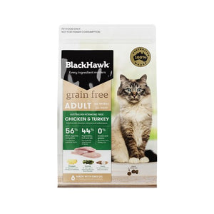 BLACK HAWK CAT GRAIN FREE CHICKEN & TURKEY 1.2KG