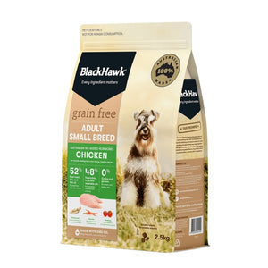 BLACK HAWK GRAIN FREE CHICKEN SM BREED 2.5KG