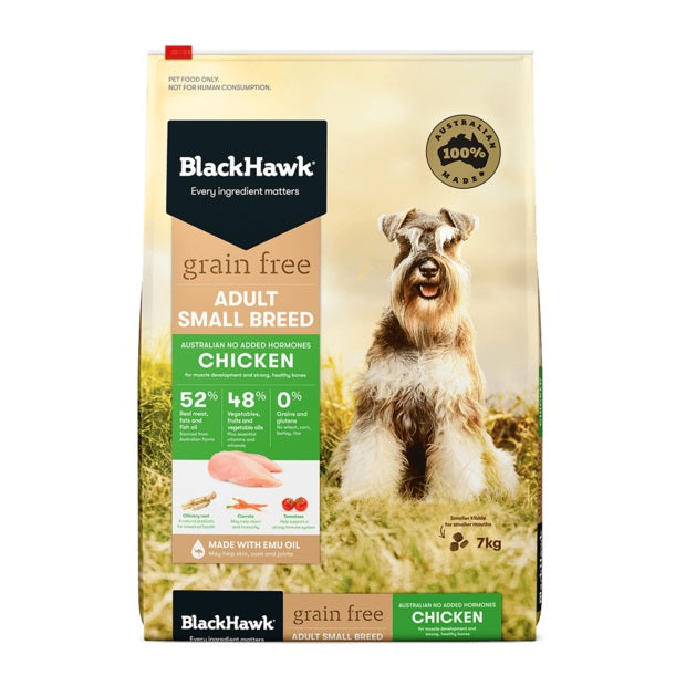 BLACK HAWK GRAIN FREE CHICKEN SM BREED 7KG