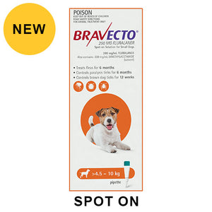 BRAVECTO SPOT-ON 4.5 - 10KG ORANGE