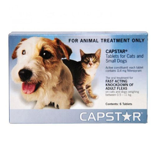 CAPSTAR SMALL DOGS & CATS 6PK