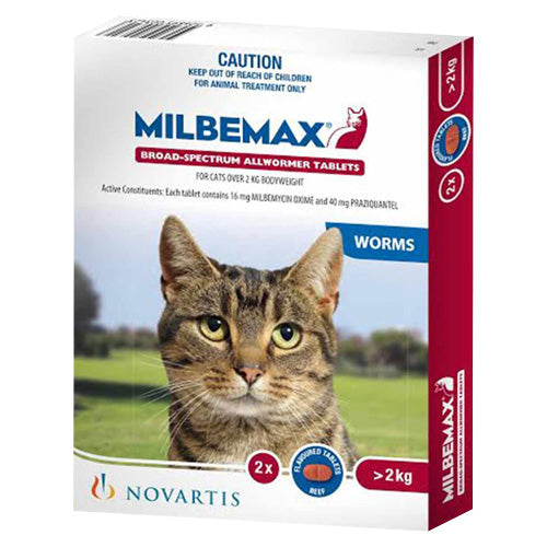 MILBEMAX TASTY LGE CAT 2'S