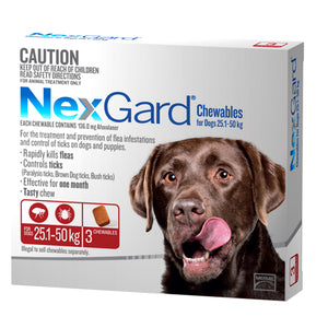 NEXGARD CHEWS XL DOG RED 3PK