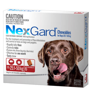 NEXGARD CHEWS XL DOG RED 6PK