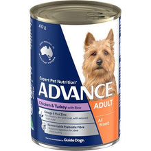 Load image into Gallery viewer, ADVANCE DOG WET CHKN TURK 410G