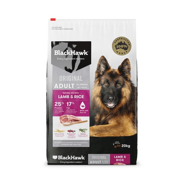 BLACK HAWK LAMB RICE 20KG