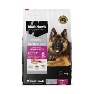 BLACK HAWK LAMB RICE 10KG
