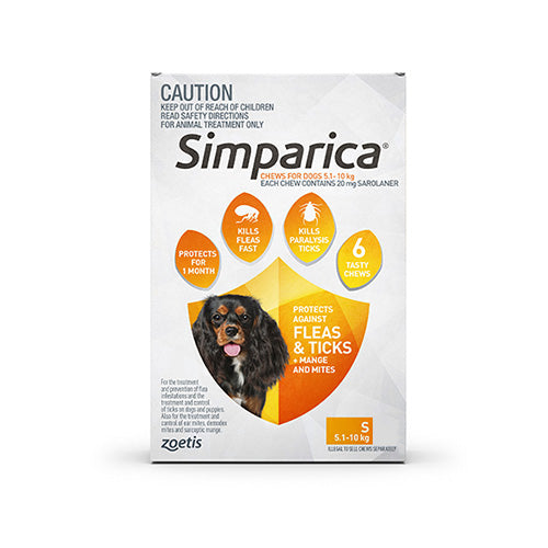 SIMPARICA ORANGE 5.1-10KG 3PK