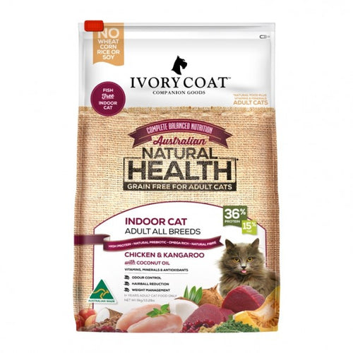 IVORY COAT CAT INDOOR CHKN ROO 3KG